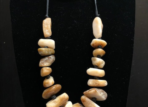 Flintstone Rock Necklace - Tan
