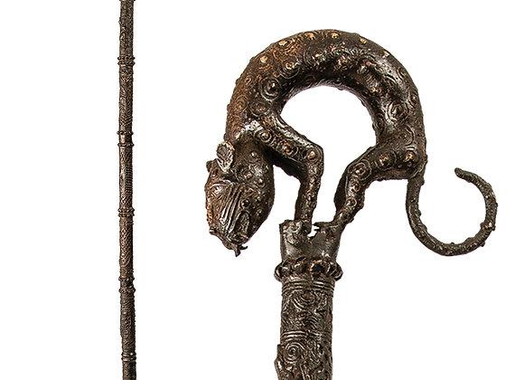 Benin Leopard Walking Stick