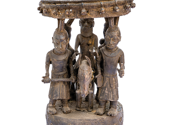 Bamoun Bronze Stool