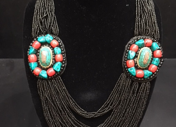 Double Pendant Rwanda Necklace