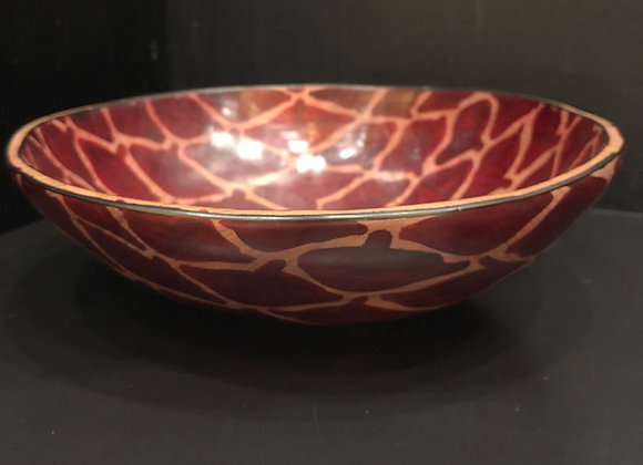 Red Hand-painted Spot Bowl