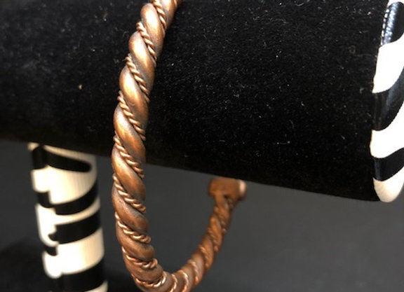 Small Twisted Copper Bracelet