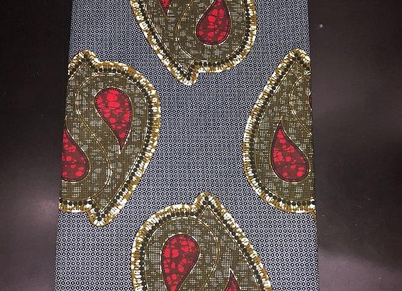 Teardrop Blue Fabric