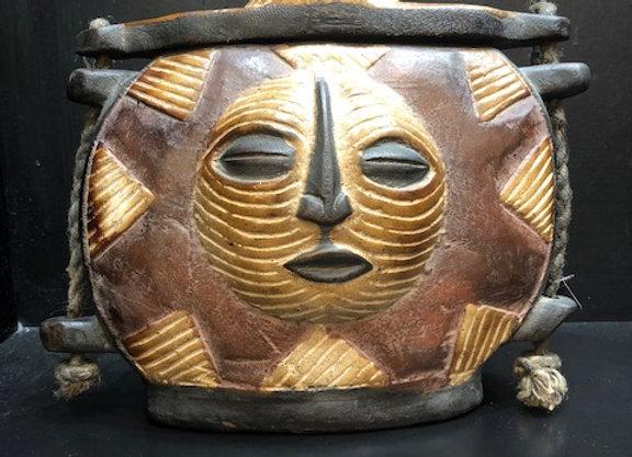 Square Wood-carved Medicine Bag