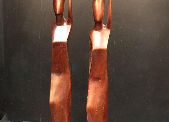 Hardwood Candlestick Holders