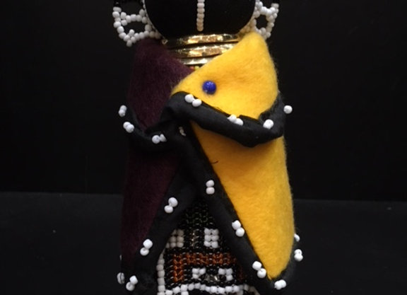 Small Ndebele Doll - Yellow/Maroon