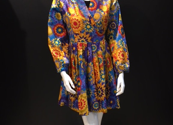 Blue Sunflower Bambino Wrap Dress by Bebey South Africa