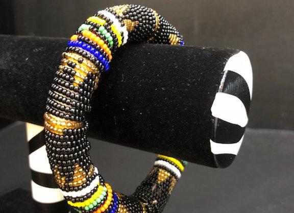 Black Zulu Beaded Bracelet