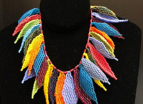 Wakonda Leaf Multicolored Necklace