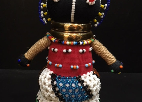 XSmall Ndebele Doll - Red/Blue