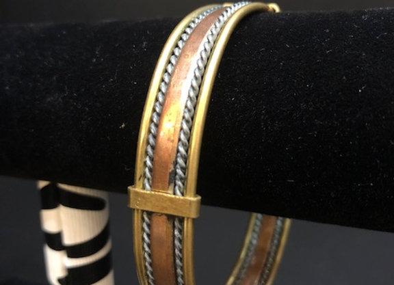 Small Braided Copper Bracelet
