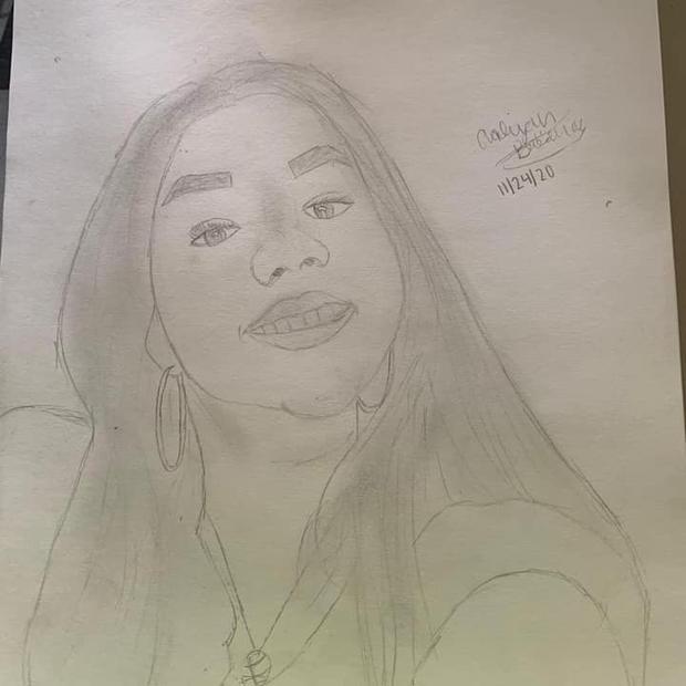Aaliyah self portrait