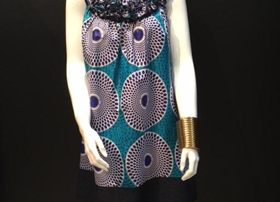 Denim Trim Frill Dress by Bebey South Africa