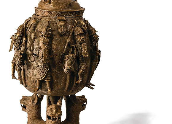 Benin Bronze Trophy Calabash