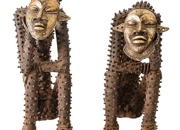 Djenne Male & Female Thinker Figures