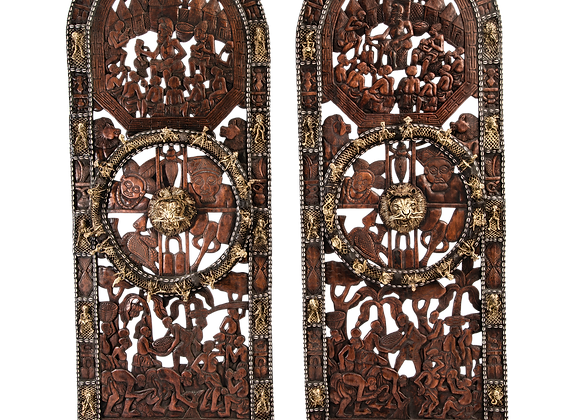 Wood Bamoun Palace Doors