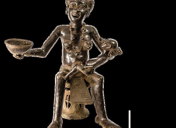 Bronze Bamoun Mother with Child