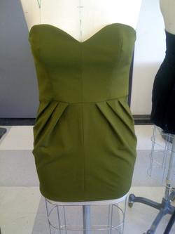 Pleated bustier dress