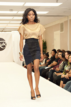 Silk Blouse and pencil skirt