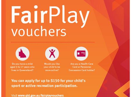 Fair Play Vouchers opening 22/1/2020