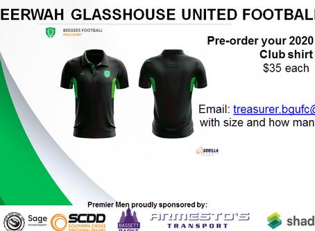2020 Club shirts - pre-order now!