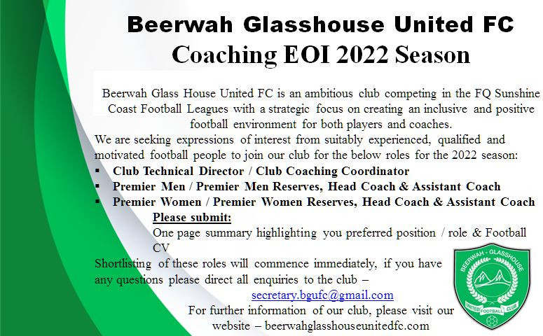 EOI for 2022 Coaches