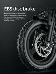 Perforated Brake Disk - HybridVelo