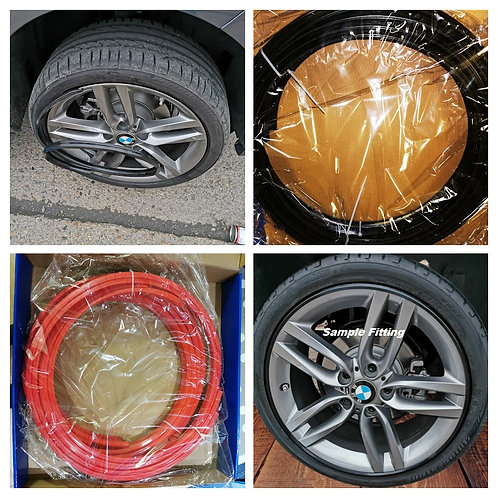 RED- Alloy Wheel Rim Protector -  14 to 22 Inch  - Universal