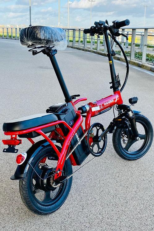 HybridVelo Lithium Electric Folding E-Bike - RED
