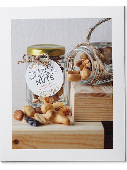 Mixed Nuts in Hexagon Jars