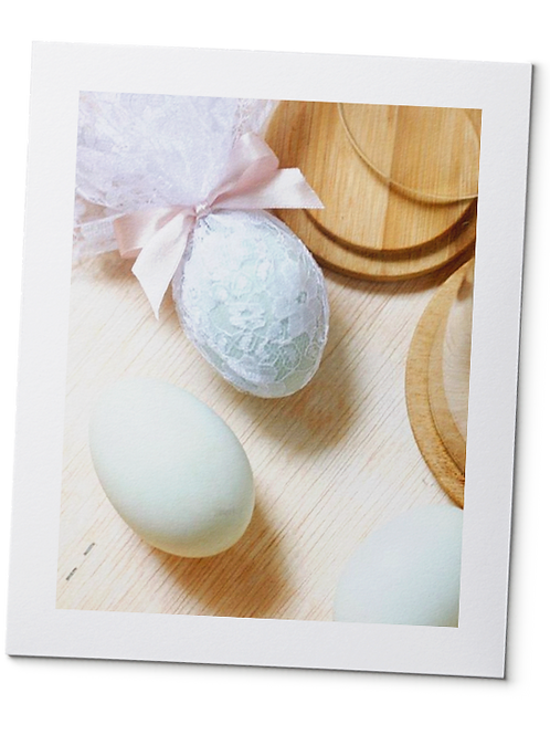 Laced Salted Eggs