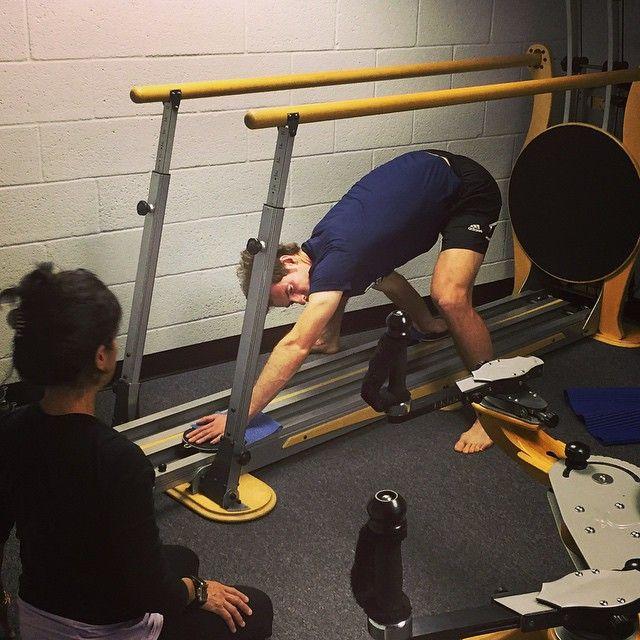 Andy Murray na Jumping Stretching Board do Gyrotonic