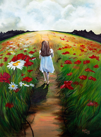 "CANVAS - Childhood Memories  Acrylic on Canvas 18W"" x 24H."""