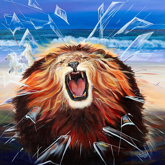 POSTER - The Roaring Lion   Poster Size: 12 W x 18 H Inches