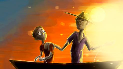 Estudo de cores - Color Script para o curta-metragem José. Dir. Fernando Gutiérrez e Gabriel Ramos