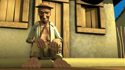 Frame do curta metragem O Mascater dirigido por Fernando Gutiérrez