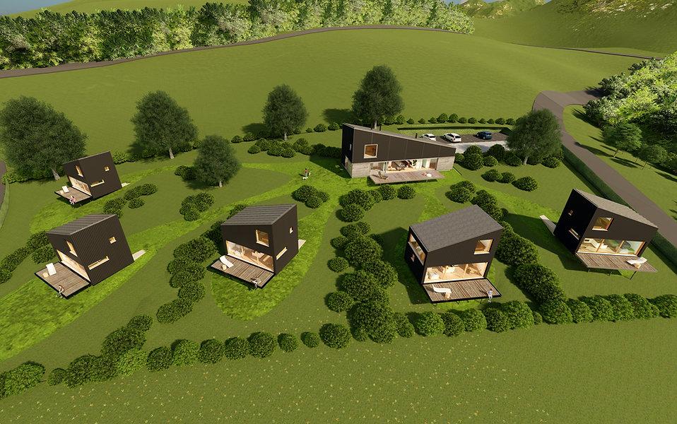 neKKo resort cabins aerial