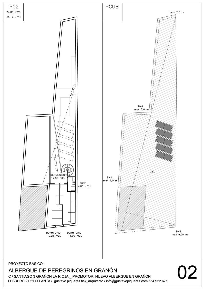 Planos 02 Albergue de Peregrinos, Grañon