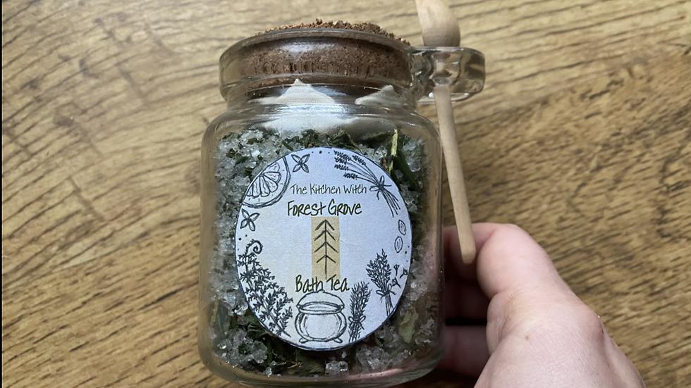 Forest Grove Bath Tea Jar