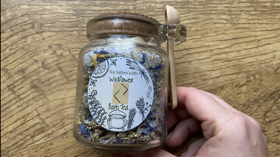 Wildflower Bath Tea Jar