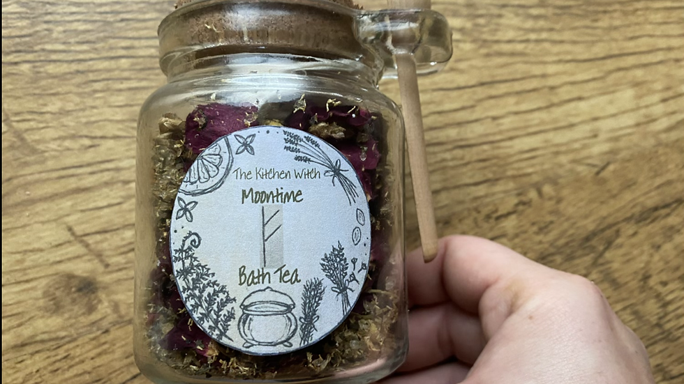 Moontime BathTea Jar