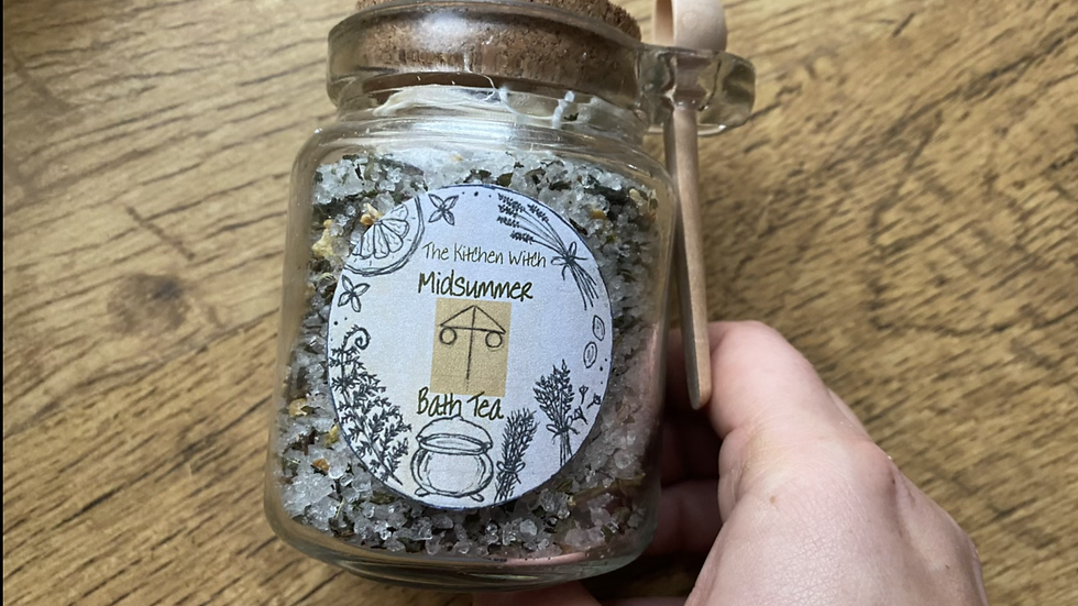 Midsummer Bath Tea Jar