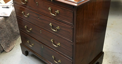 George III Mahogany Chest of Drawers With Brushing Slide