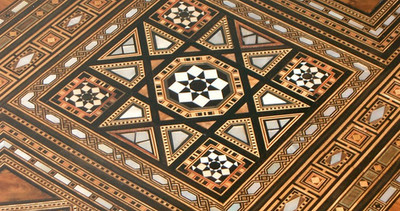 Late 19th Century Syrian Inlaid Games Table