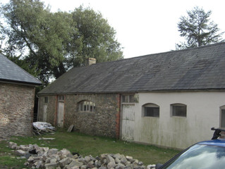 You will not believe what Cwrt Yr Ala Barns used to look like….