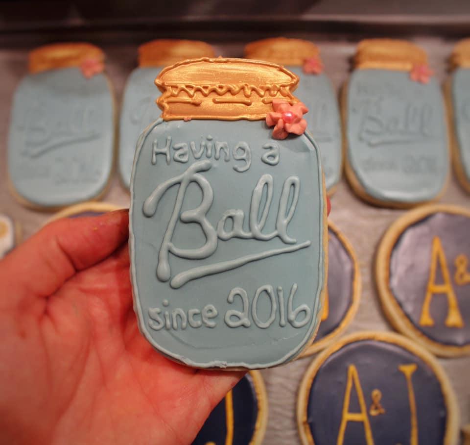 Mason Jar Anniversary Sugar Cookie