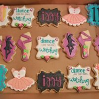 Dancer Theme Birthday Cookies
