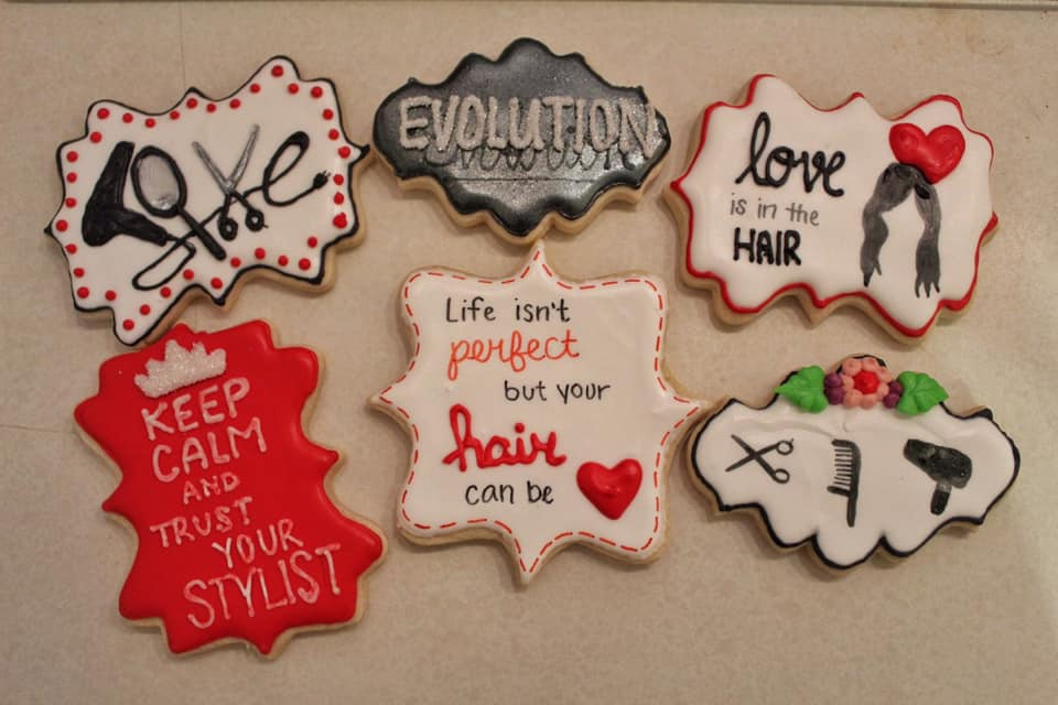 Hair Salon Valentines Cookies