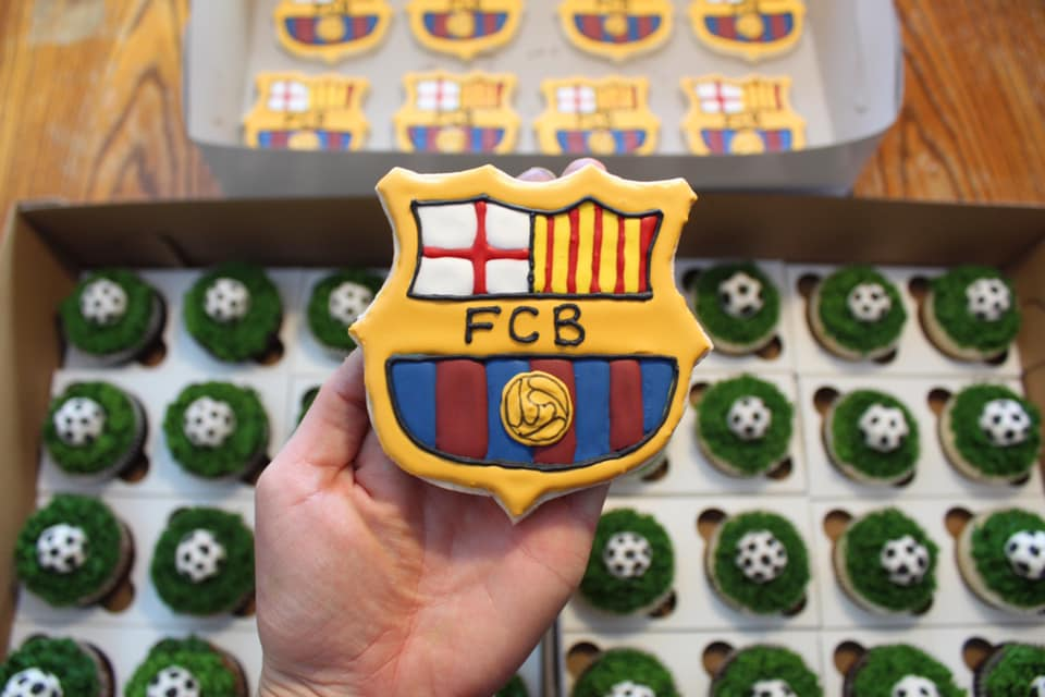 Barcelona Futbol Sugar Cookies