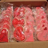 Edible Heart Valentine Cookies